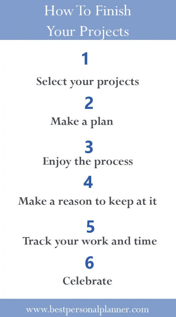 How to finish your projects