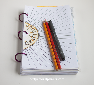 Gratitude journal ideas