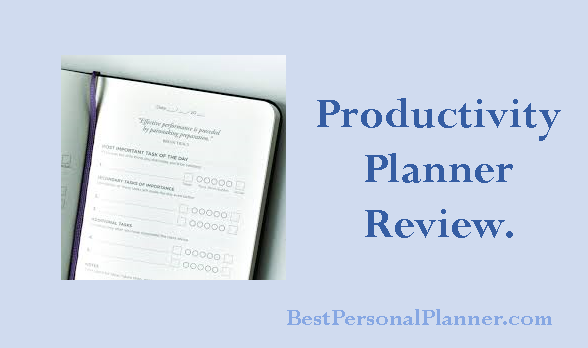 Productivity Planner Review Best Personal Planner - Productivity planner review