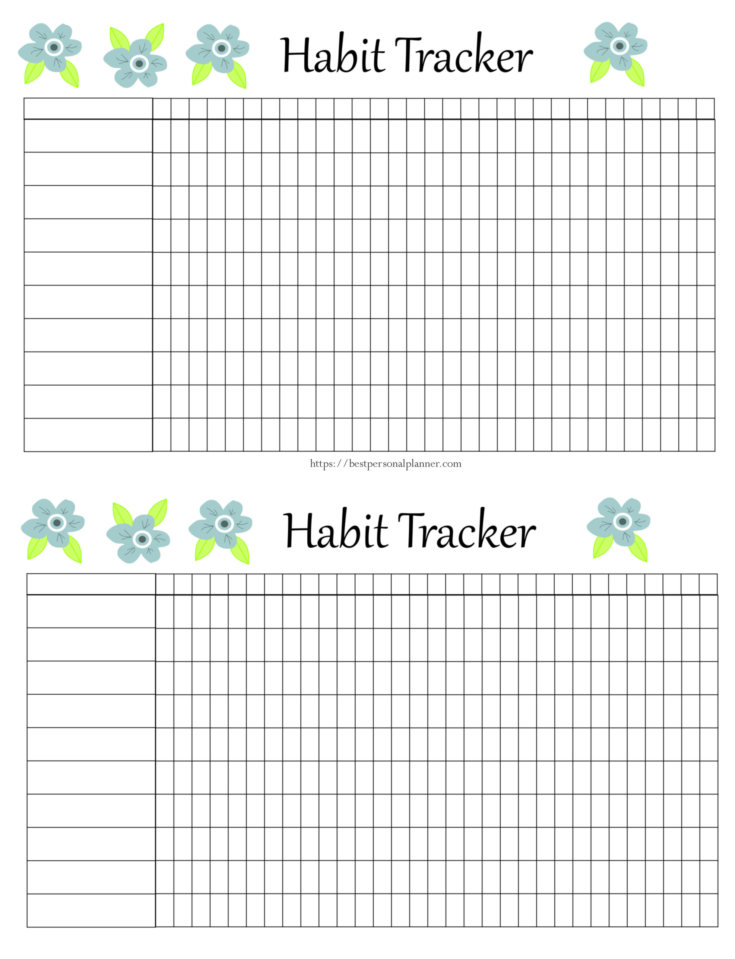 photograph regarding Free Printable Habit Tracker identified as 105 Practice Tracker Programs - Least difficult Unique Planner