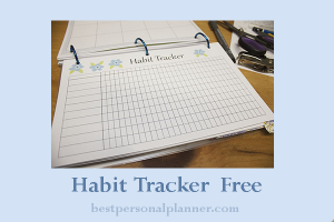 habit tracker free printable