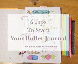 6 tips to start your Bullet Journal