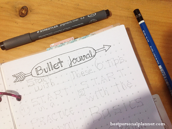 bullet journal 6 tips to start