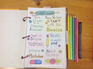 6 tips to start with your bullet journal