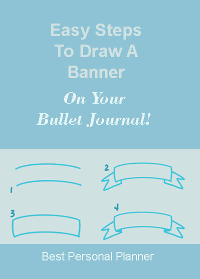 steps to draw a ribbon banner