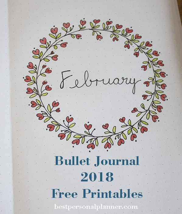 February month setup bullet journal