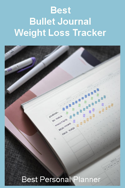 weight loss tracker and colored markers