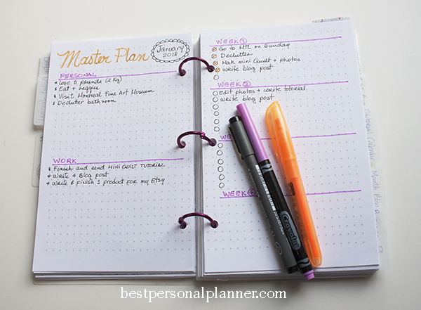 Bullet journal master plan