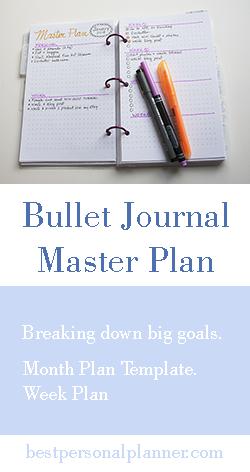 bullet journal master plan