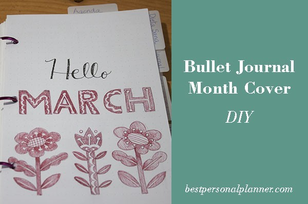 Bullet journal month cover DIY