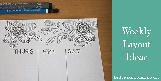 weekly layout ideas bullet journal