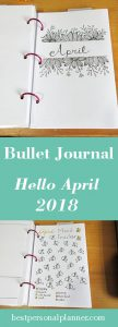Bullet Journal - Hello April