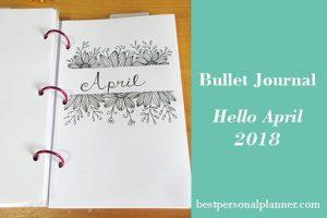 Bullet Journal - Hello April