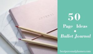 50 page ideas bullet journal