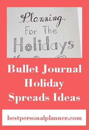 Christmas bullet journal spreads ideas