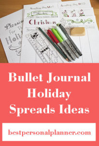 Planning For The Holidays - Bullet Journal