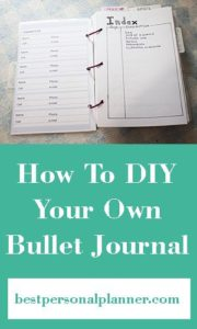 How To Make A DIY Bullet Journal
