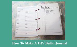 how to DIY bullet journal