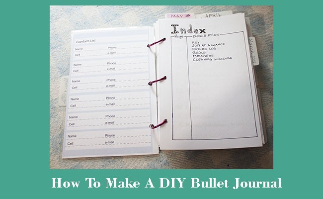 how to DIY bullet journal