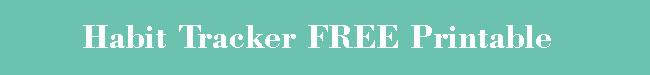 habit tracker FREE printable