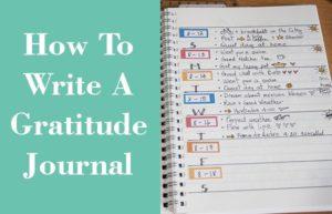 how to write gratitude journal