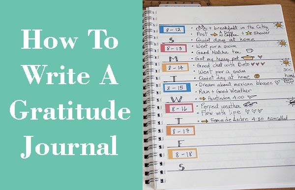 how to write gratitude journal