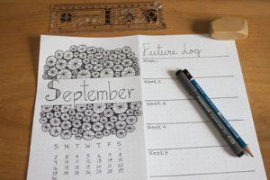 month-setup-bullet-journal-september