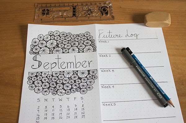 month-setup-bullet-journal-september