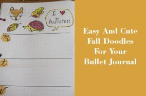 easy and cute fall doodles bullet journal