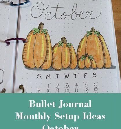 Month Setup Bullet Journal - October