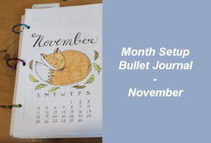 Month Setup Bullet Journal - November 2018