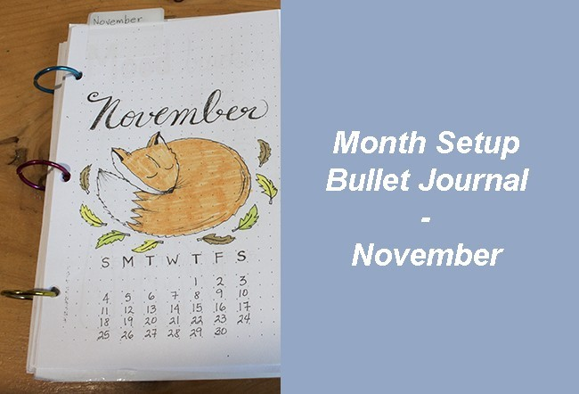 Month Setup Bullet Journal - November 2018