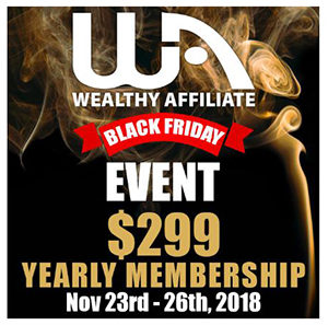 Black Friday at Wealthy Affiliate