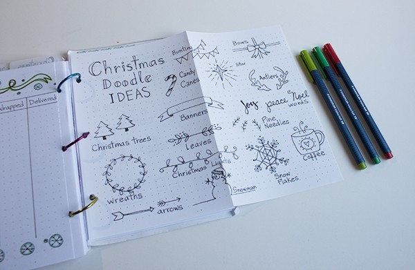Best And Easy Christmas Doodles - Bullet Journal
