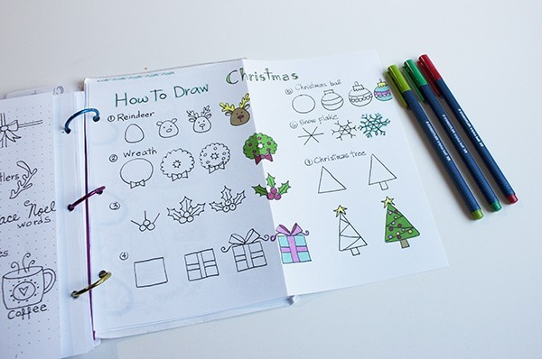 Christmas doodles ideas.