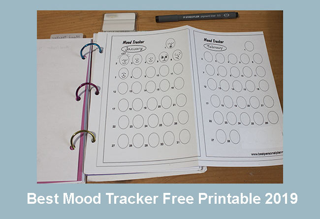 photograph relating to Printable Mood Tracker named Excellent Temper Tracker Absolutely free Printable 2019 - Most straightforward Person Planner