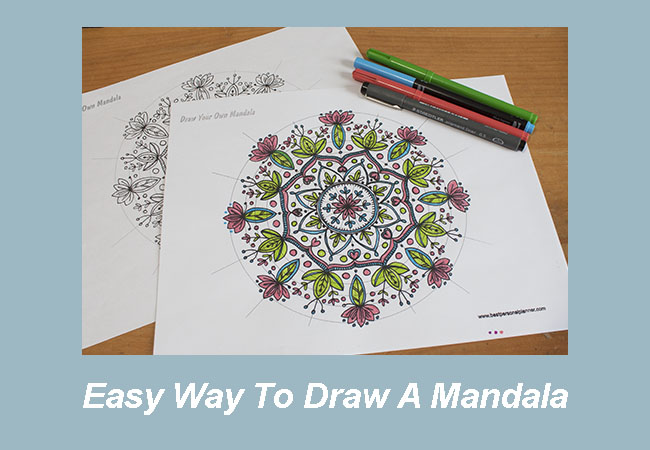 Easy Way To Draw Mandalas