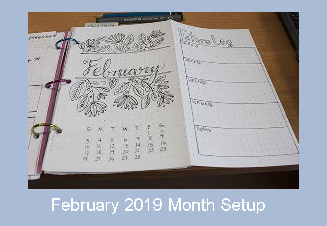 february 2019 month setup bullet journa