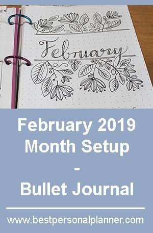 February month setup bullet journal