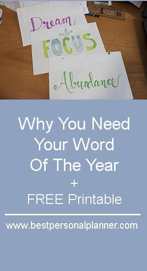 Why You Need Your Word Of The Year