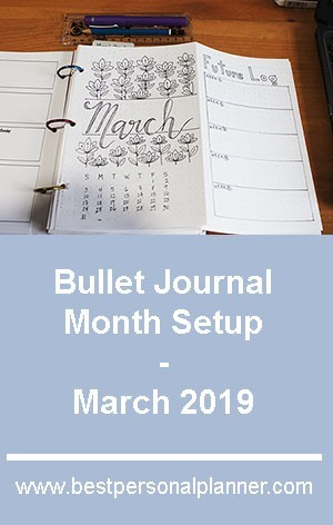 Bullet Journal Month Setup - March