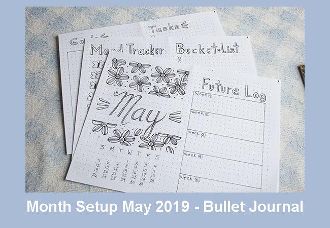 Bullet Journal Month Setup - May 2019