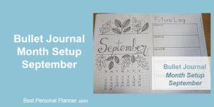 September Monthly Setup - Bullet Journal