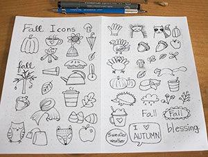 easy cute fall doodles