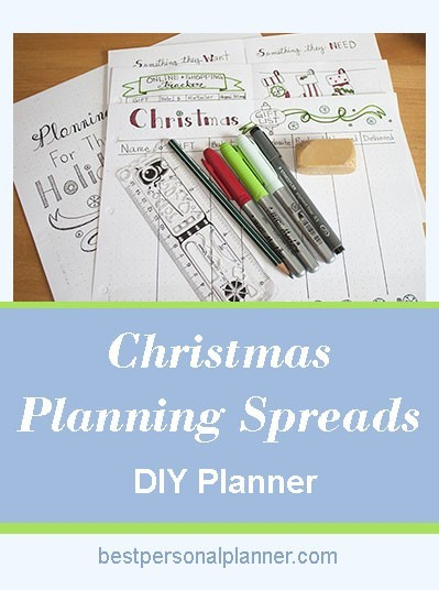 Christmas planning spreads
