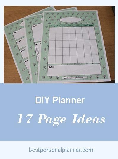 DIY Planner  17 Page Ideas