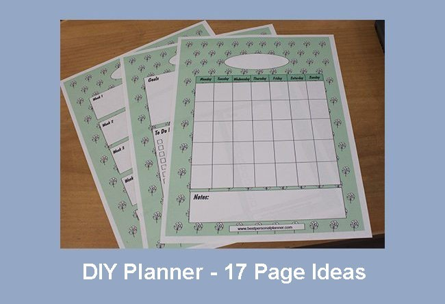 DIY planner 17 page ideas