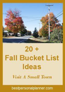 fIdeas For Your Fall Bucket List