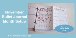 November Monthly Setup - Bullet Journal
