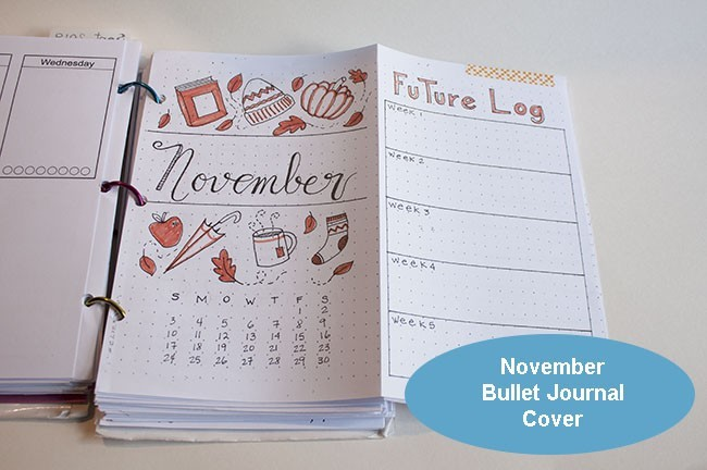Bullet Journal November Cover